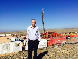 Vengosh at Golan rig