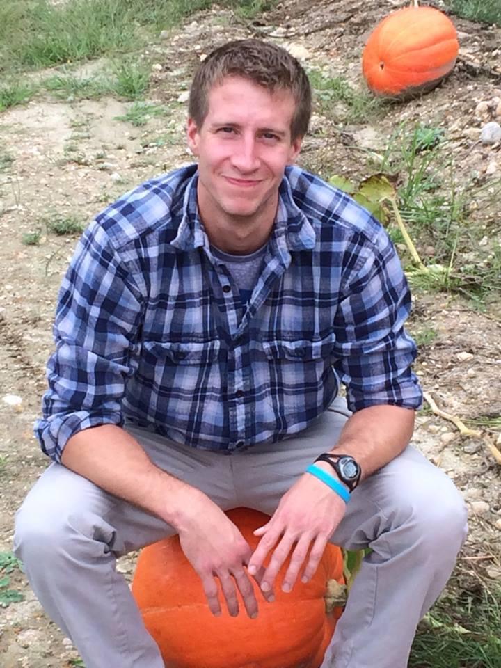 Dan on a Pumpkin
