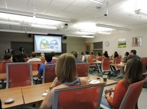 Christina presenting the Radon Awareness Project PC: Ranee Shenoi