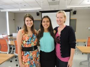 Savannah Volkoff, Christina Bear, and Eve Marion at Christina's ITEHP Seminar.  PC: Ranee Shenoi