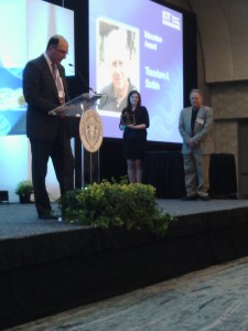 Ted Slotkin receives Education Award at the 2015 SOT meeting in San Diego, California.