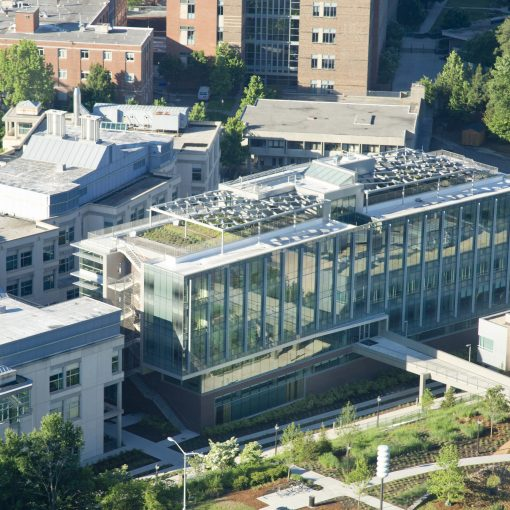 Aerial view of the Nicholas School of the Environment