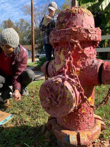 Fire hydrant on Berkeley Street with peeling paint