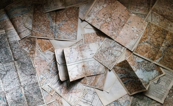 Pile of assorted maps