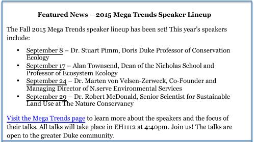 2015 Mega Trends