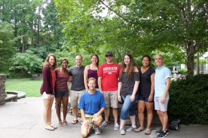 Partial lab picture; missing Latasha Smith, Rashmi Joglekar, and Tess Leuthner