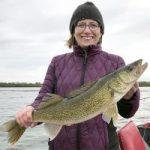 Sarah Strommen holding a fish