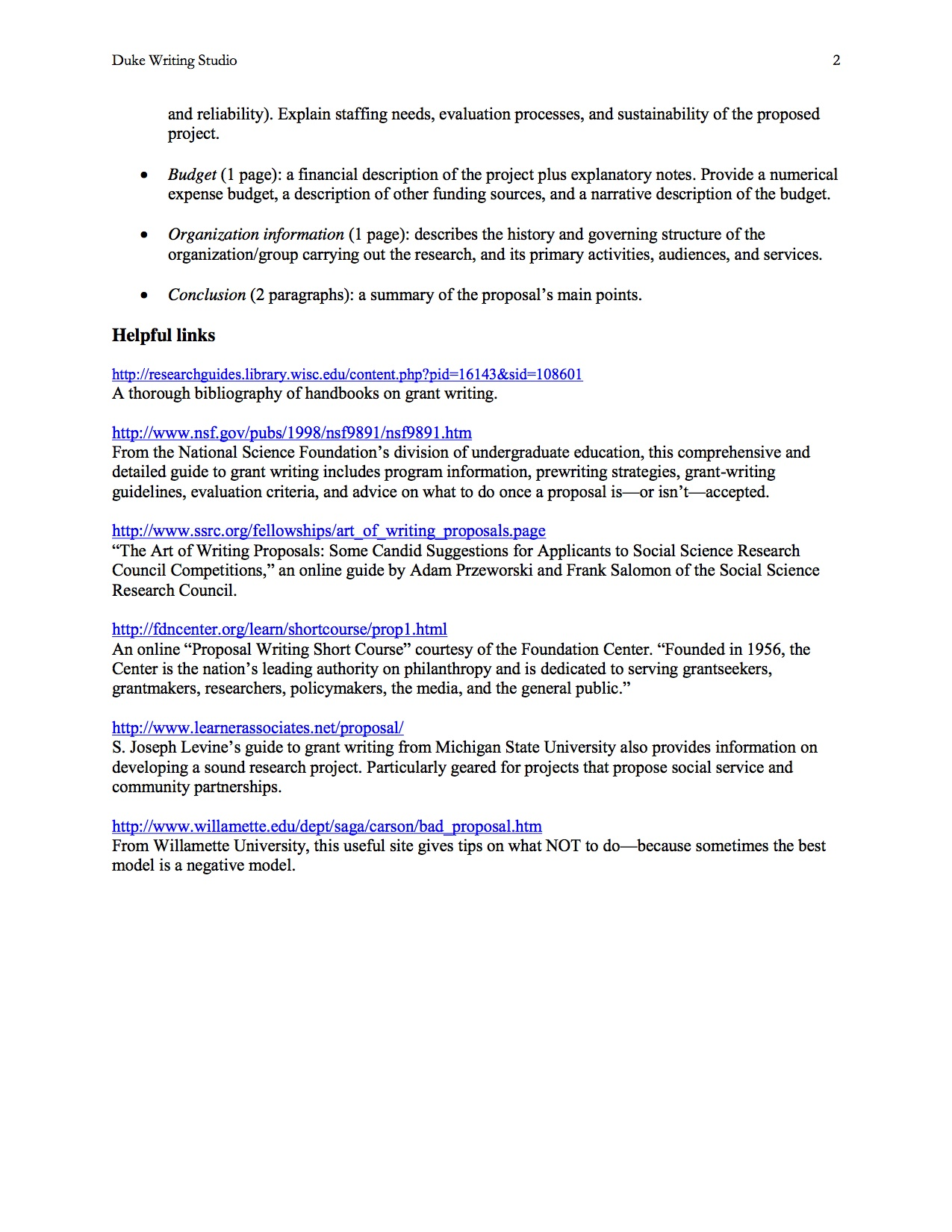 a. Components of a Humanities & social science Research Proposal