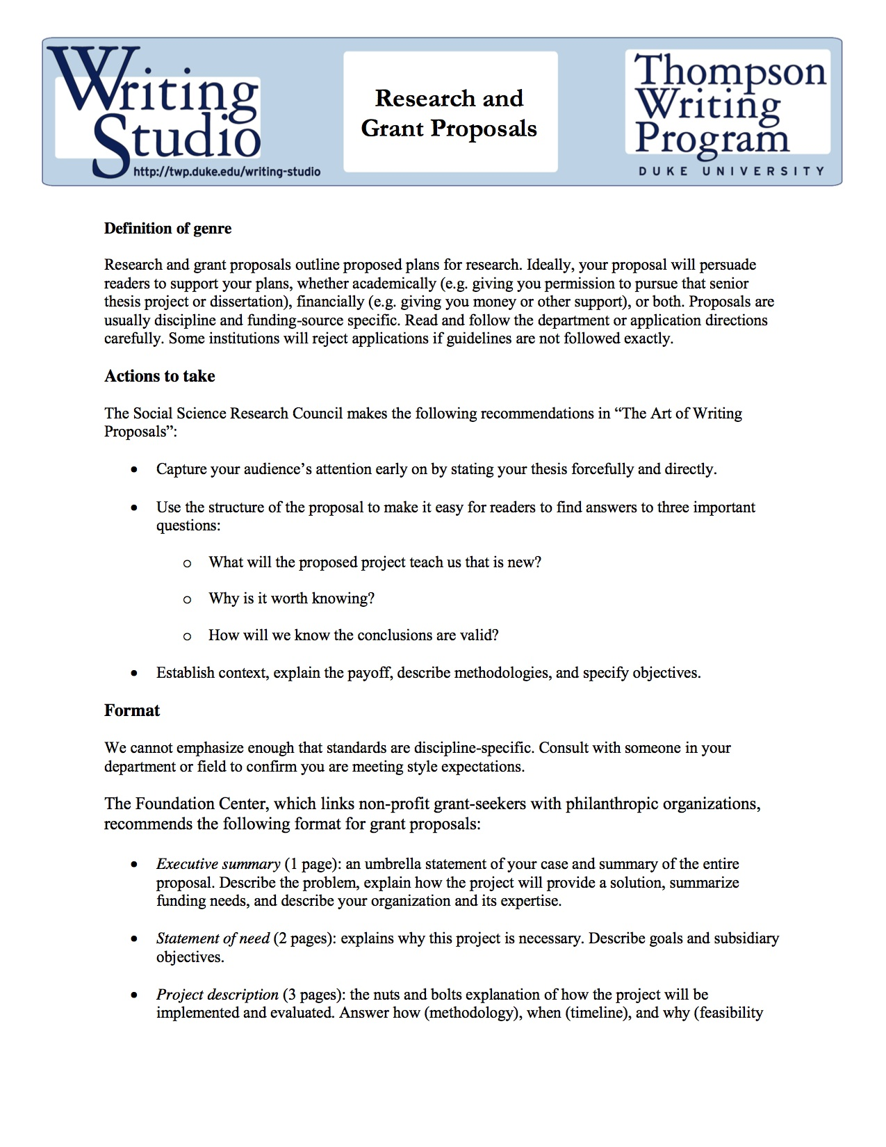 Grant Proposal | Grant Proposal Nsoe Communications Studio