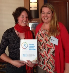 Eileen and Heather at the 2014 Furniture Flammability & Human Health Summit