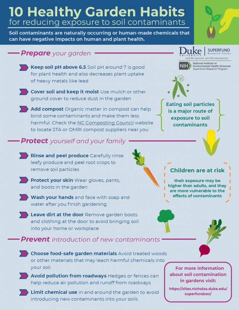 10 Healthy Garden Habits for reducing exposure to soil contaminants